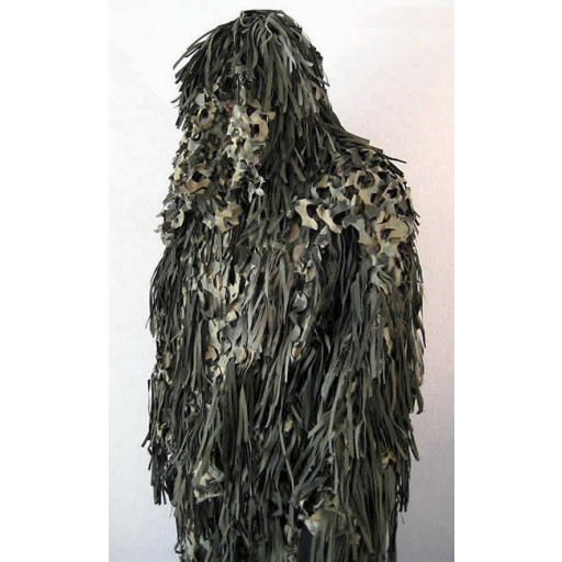 Ghillie militaire jackal woodland 3D disponible sur StockUS